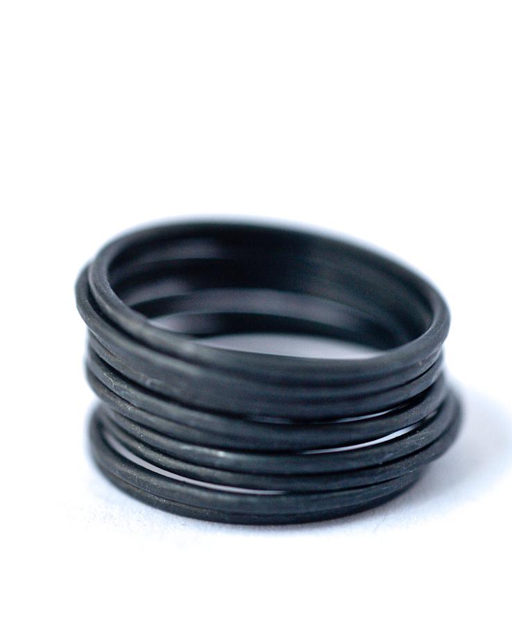Hammered Skinny Rings