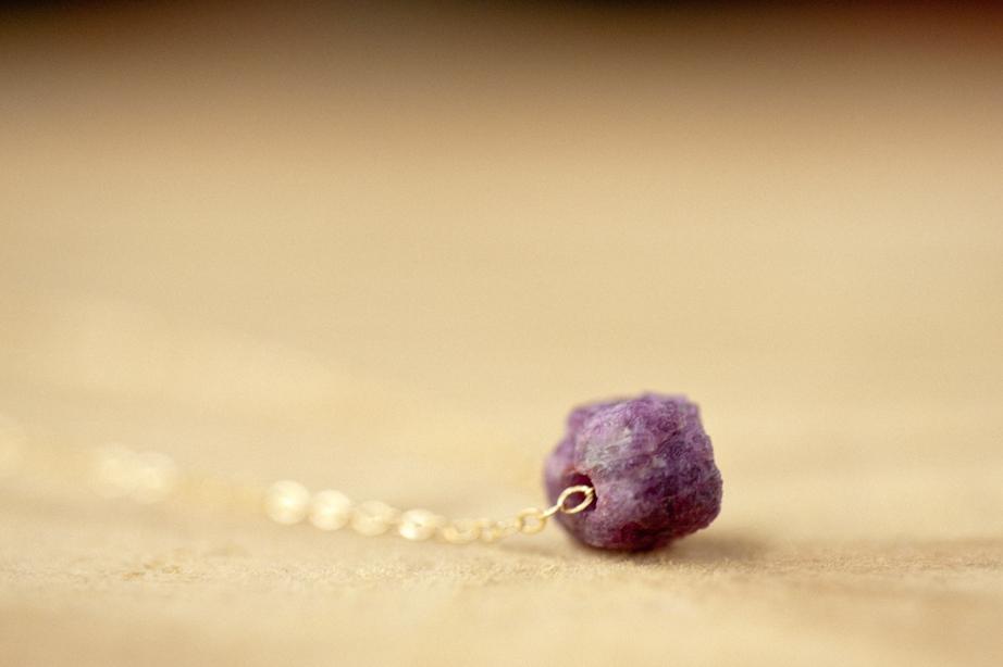 gold filled raw ruby necklace lovegem studio-1