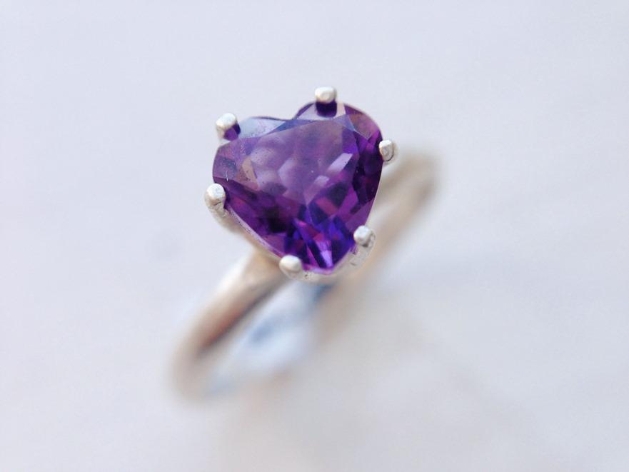Purple Heart Amethyst Ring