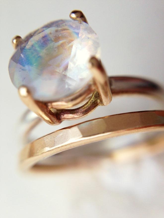 Moonstone Engagement Ring_Handmade Jewelry_LoveGem Studio 223